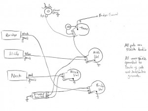 Epiphone P-93 Circuit Diagram