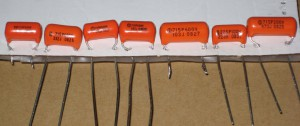 Orange Drop capacitors from 1000pf to .047uF