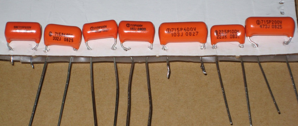 crazy tone thing planet z orange drop capacitors from 1000pf to 047uf