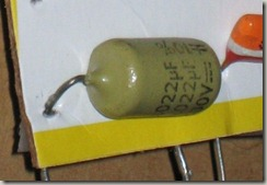 /Phillips Mustard polyester foil/film capacitor