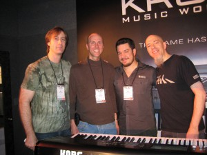 Bill Jenkins, Me, Rich Formidoni and Jordan Rudess