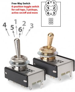 Free Way 6 Position Switch