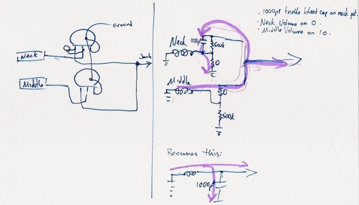 Treble Bleed Problem Circuit Drawing