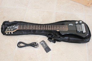 Ktone Travel Guitar- Ultra cheap gig bag, cord and wrench included