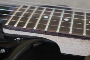 Ktone Travel Guitar- Gaps in fret slots