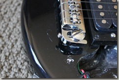 Ktone Travel Guitar- Scratched finish and misdrilled holes