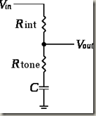 Circuit with tone