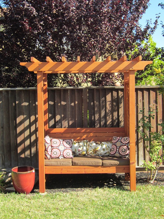 Ordinaire The Bench Is Now Stained Finished Garden Arbor Bench