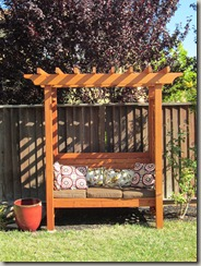 Finished Garden Arbor Bench