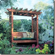 Sunset Garden Arbor Bench