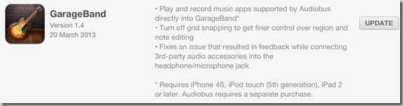 Garage Band Update
