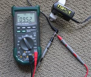 Measuring 1 Spot 9V power supply