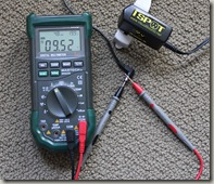 Measuring 1 Spot 9V power supply