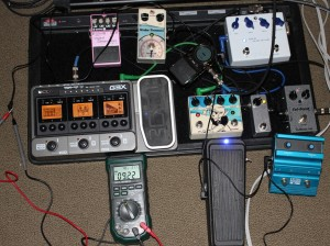 Crazy pedal chain for measuring power supply load