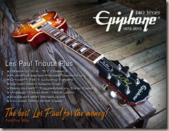140 Years. Epiphone Les Paul 1960 Tribute Plus