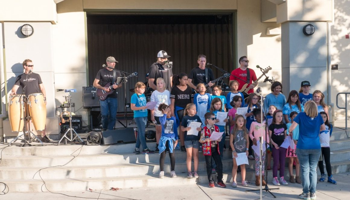 Drop Daddies and the Twin Creeks Elementary Chorus at the Fall Carnival
