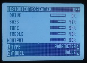 HD500X light tube screamer settings