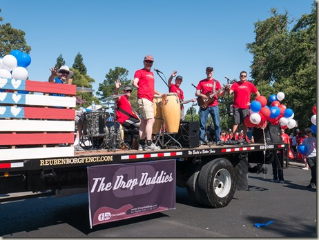 The Drop Daddies in July 4 Parade