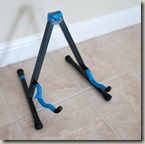 OnStage guitar stand with blue tape