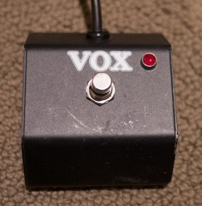 Modified VOX foot switch with red LED