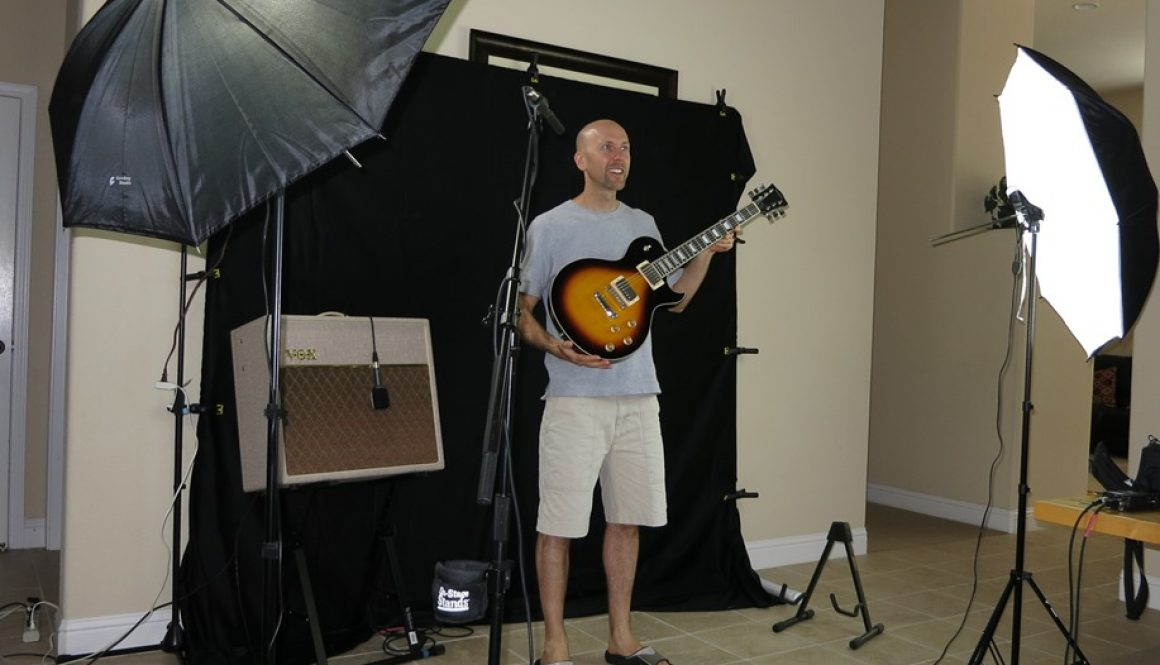 Three Les Pauls Video Shoot