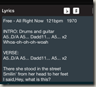 Transposition Buttons In Song Lyrics