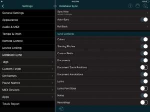Set List Maker Database Sync