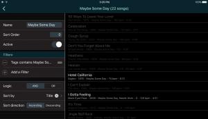 Custom Smart List in Set List Maker