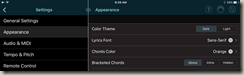 Appearance Settings For Chords