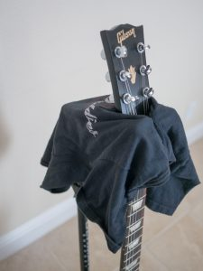 Ultimate Guitar Stand Wrapped in a T Shirt