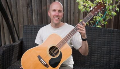 John With His 1978 Takamine