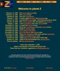 Planet Z Blog 1998
