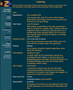 Planet Z Blog 2002