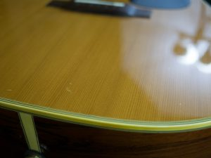 Takamine Acoustic Top After Polishing