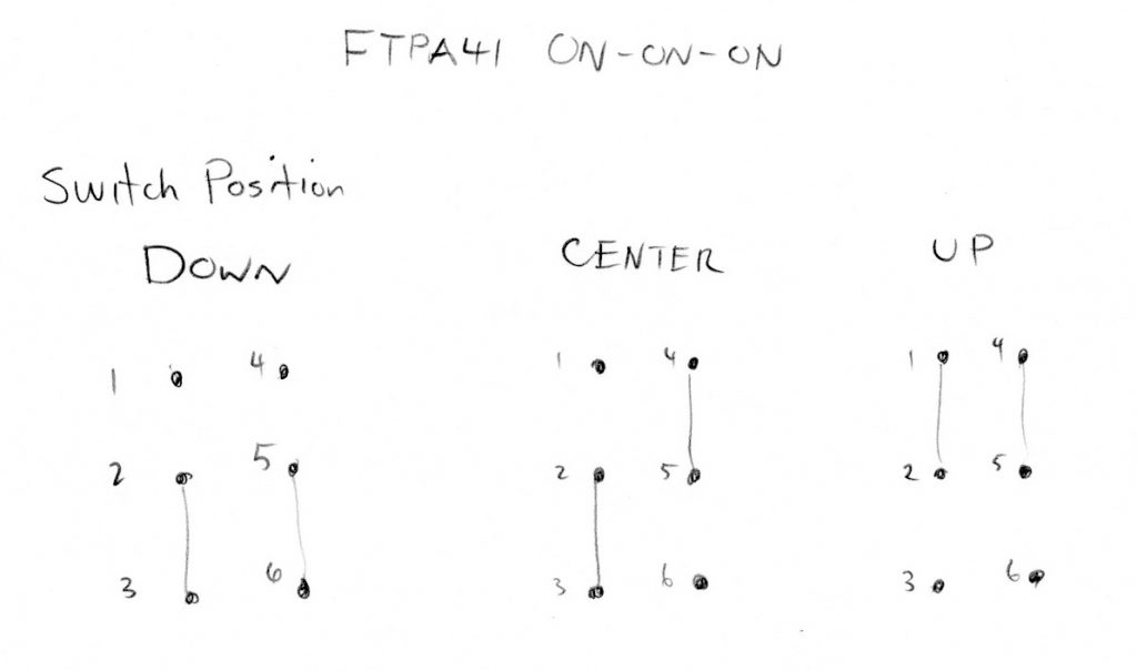 Ftpa41 Switch Connection Chart