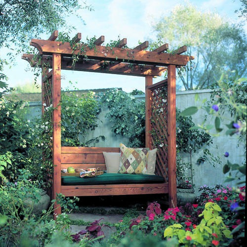 Attractive Garden Arbor Bench Project – Planet Z CH79